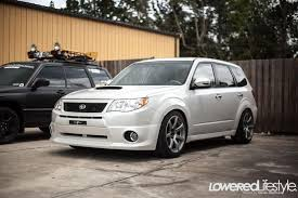 subaru forester lowered lowered lifestyle subaru forester xt turbo whips chocolate
