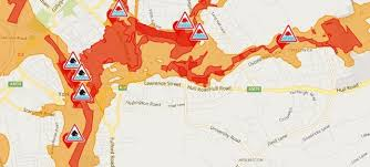 road map of york york housing check your for flooding nouse