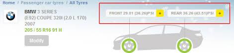 bmw 3 series tyre pressure bmw tyre pressure michelin uk
