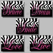 100 pink zebra bedroom custom decorated wooden letters pink pink zebra bedroom zebra decor photo in zebra print wall decor home decor ideas