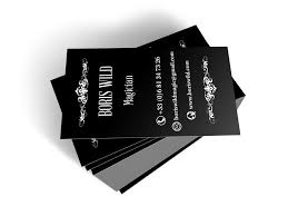 Magician Business Cards Zakary Belamy Photographer Filmmaker