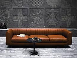 Wohnzimmer Italienisches Design Sofa Aus Leder Quilt Sofa Aus Leder Tacchini Italia Forniture