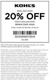 20 kohls coupon promo codes printable coupons coupon