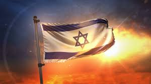 Israels Flag Israel Flag Backlit At Beautiful Sunrise Loop Slow Motion 4k