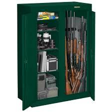 stack on double door gun cabinet 16 or 31 gun double door security cabinet