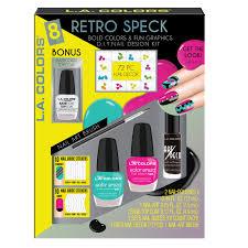 l a colors 8 pc retro speck d i y nail kit beauty beauty