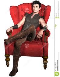 An Armchair Man Sitting In An Armchair Stock Illustration Image 64859520
