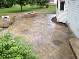 Backyard Cement Ideas Stylish Ideas Cement Patio Cost Interesting Stamped Concrete