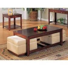 Coffee Table Set Coffee Table W Ottomans Underneath Can Be Made Using A Pallet