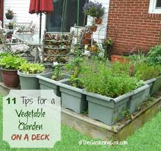 deck and garden design tips to grow a vegetable garden on a deck