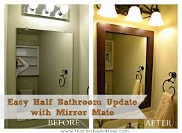 Bathroom Updates Before And After Half Bathroom Update And Mirrormate Giveaway The Cards We Drew