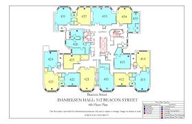 Floor Plan To Scale by Danielsen Hall Floor Plan Housing Boston University