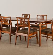 danish modern teak dining table and chair set ebth