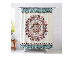 Mint Shower Curtain Rustic Shower Curtain Mint Shower Curtain Boho Shower Curtain