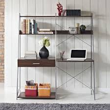 Bookcase With Ladder by Altra Walnut Ladder Desk With Tower Bookcase 9803096