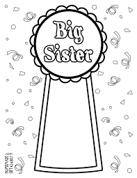 printable big sister coloring pages the numbers