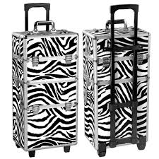 pro 2 in1 aluminum travel rolling makeup cosmetic train case