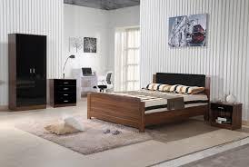 walnut bedroom furniture walnut black gloss bedroom furniture 3 piece trio set wardrobe