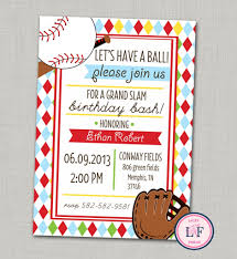 baseball birthday party invitations u2013 gangcraft net
