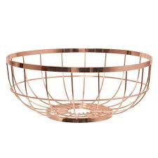 Modern Fruit Holder Open Grid Kitchen Rack Copper Wall Hanging Kitchen Storage