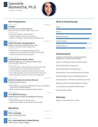 page resume created with free novoresume template