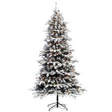 flocked artificial trees 7 a 1 2 ft lit flocked fir