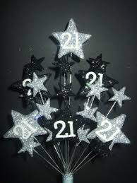 star age 21st birthday cake topper in silver and black amazon co