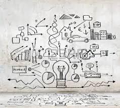 imagen sketch con ideas de negocios diagramas y gráficos fotos