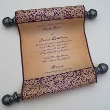 Fairytale Wedding Invitations Fairytale Wedding Invitation Vintage Medieval Fabric Scroll