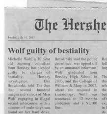Newspaper Meme Generator - fact check was comedian michelle wolf once arrested for bestiality