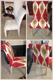 old 80 u0027s parson chair i recovered w a fabric shower from