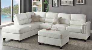 Sectional Sofa Toronto Sofa 3 Piece Modern Reversible Tufted Bonded Leather Sectional