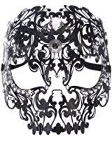 mardi gras skull mask coxeer masquerade mask metal venetian mask