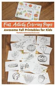 fall activity coloring pages awesome fall printables for kids