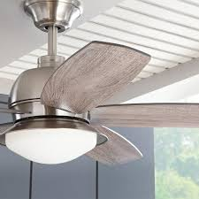 52 ceiling fan with light and remote control home decorators collection ackerly 52 in led indoor outdoor brushed