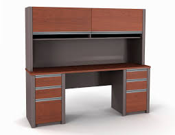Double Pedestal Desk With Hutch by Bestar Connexion Credenza And Hutch