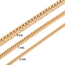 titanium gold necklace images Vintage long gold chain for men chain necklace new trendy gold jpg