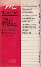 Book Report On To Kill A Mockingbird Amazon Com Harper Lee S To Kill A Mocking Bird Monarch Notes