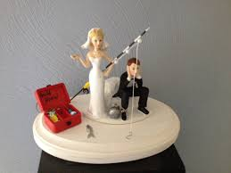fishing wedding cake toppers wedding cake topper and chain key humorous going
