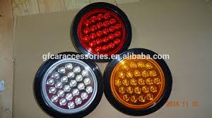 4 inch round led tail lights 4 inch amber red white 24 led truck trailer tail lights buy 4 hommum