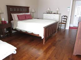 Cork Laminate Flooring Problems Bedroom Oriental Bedroom With Dark Wood Cork Flooring And Polka