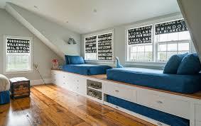 Kids Platform Bed Platform Trundle Bed Kids Beach With Blue Bedding Boys Bedroom
