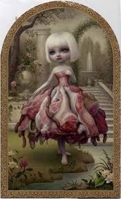 rare mark ryden the 90s meat dress art show invite card 3 side