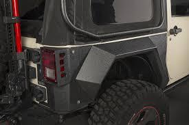 rugged ridge xhd rear armor fenders for 07 18 jeep wrangler jk