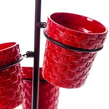 furniture charming red utensil caddy for kitchen accessories ideas