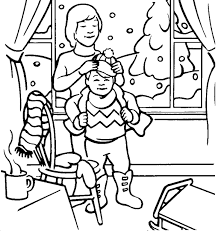 clothes coloring pages winter clothes coloring pages for children winter coloring pages