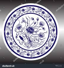 pottery hand drawing vector porcelain stock vector 523183282