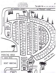 Florida State Parks Camping Map by Camp N Water Campground