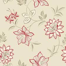 B Q Bedroom Wallpaper B U0026q Lexie Red Floral Wallpaper Departments Diy At B U0026q