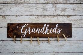 How To Make Home Decor Signs Grandkids Sign Picture Holder Grandkids Make Life Grand